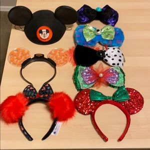 NWOT DISNEYLAND EARS HEADBANDS MINNIE MICKEY BOW